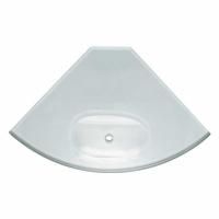 Glass Corner Shelf 200mm with Soap Dish