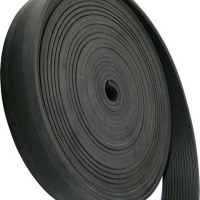 Strip Rubber Ribbed 4x45mm 10m