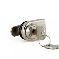 Cam Lock & Cover Plate Polished Nickel