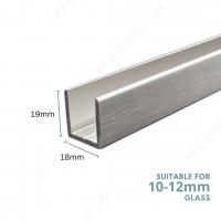 U Channel Aluminium C8-10mm Chrome
