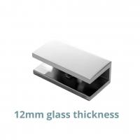 U-bracket 12mm Square Corners Chrome