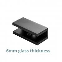 U-bracket 6mm Square Matt Black