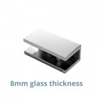 U-bracket 8mm Square Corners Chrome