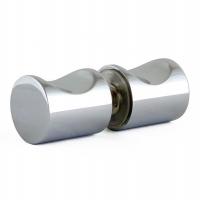 Barrel Knob 25mm Fingergrip Chrome