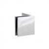 Bracket 90° W/G Side Leg Square Chrome