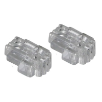 Clips 4mm Clear Plastic