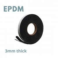 Tape S/S EPDM Foam 3mm x 9mm x 15m Bk