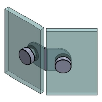 Folded Angle Bracket 135° G/G 50x50