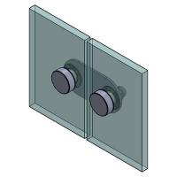 Flat Bracket 180° G/G 50x50