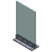Angle Bracket Floor 50x50x300