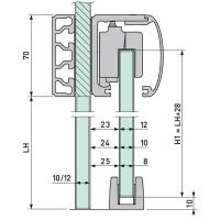 VITRIS Slide - Kit 12 Sgl 2.5m Rnd Glass