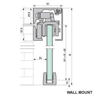 VITRIS 60 Single 2m Square Anodised