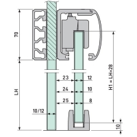 VITRIS 120Glass mount ext. +fixings 2.5m